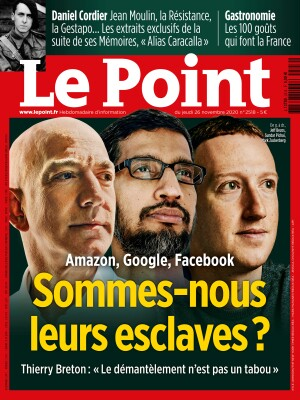 Couverture du Point N° 2518 du 26 novembre 2020
