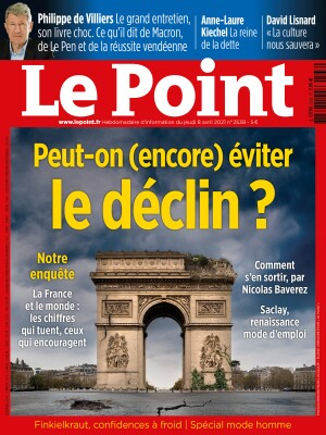 Couverture du Point N° 2538 du 08 avril 2021