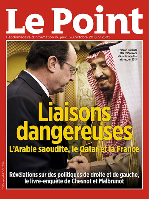 Couverture du Point N° 2302 du 20 octobre 2016