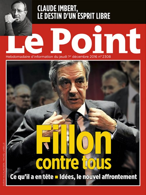 Couverture du Point N° 2308 du 01 décembre 2016