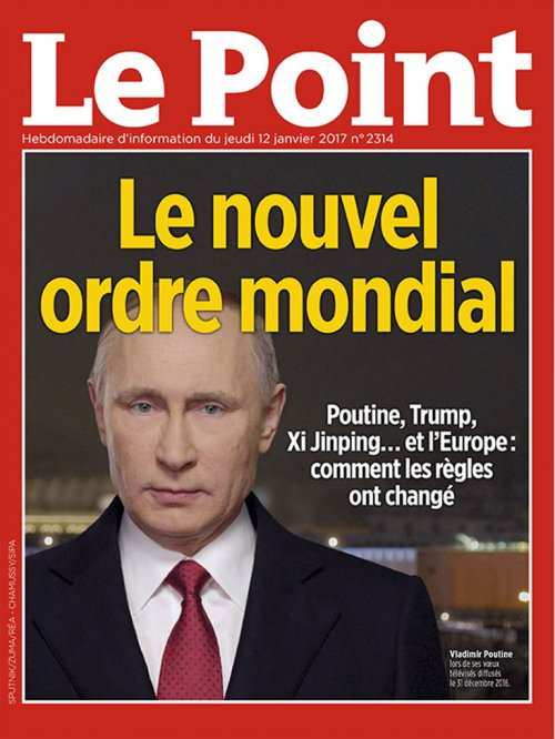 Couverture du Point N° 2314 du 12 janvier 2017
