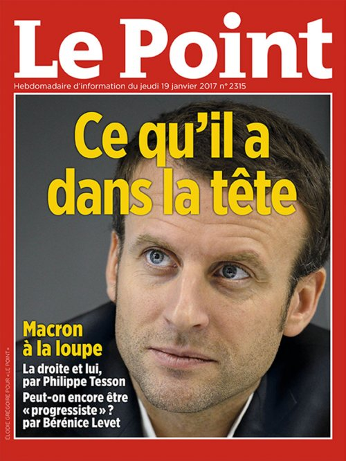 Couverture du Point N° 2315 du 19 janvier 2017